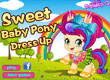 Облечи сладкото бебе пони Sweet Baby Pony Dress Up